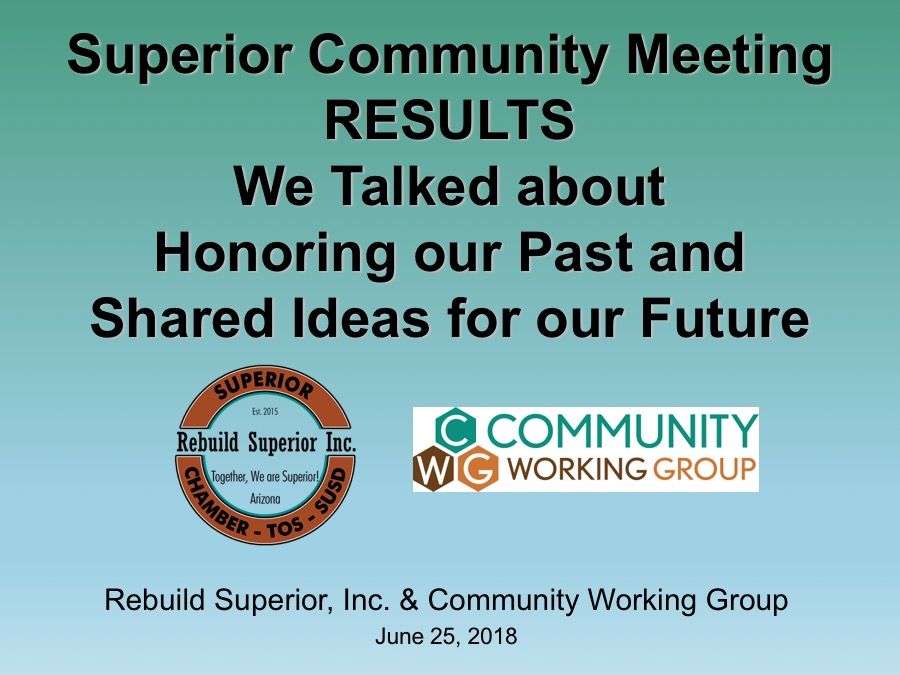 Rebuild Superior Community Meeting Results