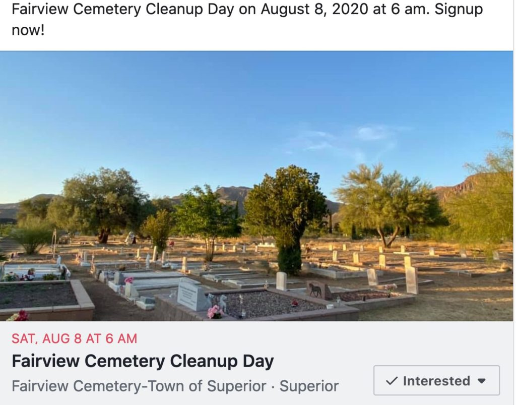 Second 2020 Fairview Cemetery Cleanup